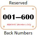 Reserved Back Numbers